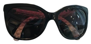 Chanel 5289 Q Black Square CC Logo Quilted Goatskin leather sunglasses