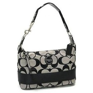 Coach Patent Leather Signature Hobo Bag