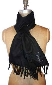 Saint Laurent YVES SAINT LAURENT AUTHENTIC BLACK WOOL SCARF