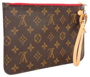 Louis Vuitton Neverfull Mm Speedy Wristlet in Monogram & Red