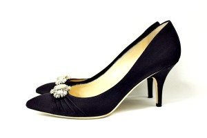 Jimmy Choo Crepe De Satin black Pumps