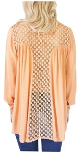 Free People The Best Crochet Lace Top Pink