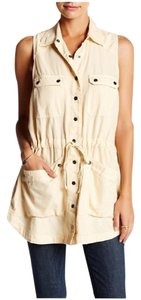 Free People short dress Cream Too Far Tunic Mini Micro-mini on Tradesy