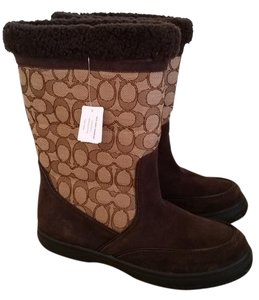 Coach Suede Waterproof Brown Boots