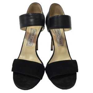 Jimmy Choo Designer Sandal Suede Leather BLACK Sandals