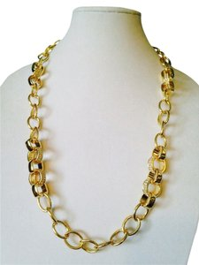 Other Gold/Crystal Link Set, Necklace & Bracelet