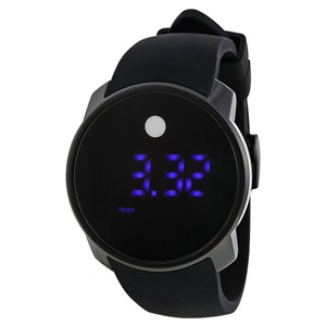 Movado NWT Men's Bold Touch Screen Digital Dual Time Black Silicone 3600144