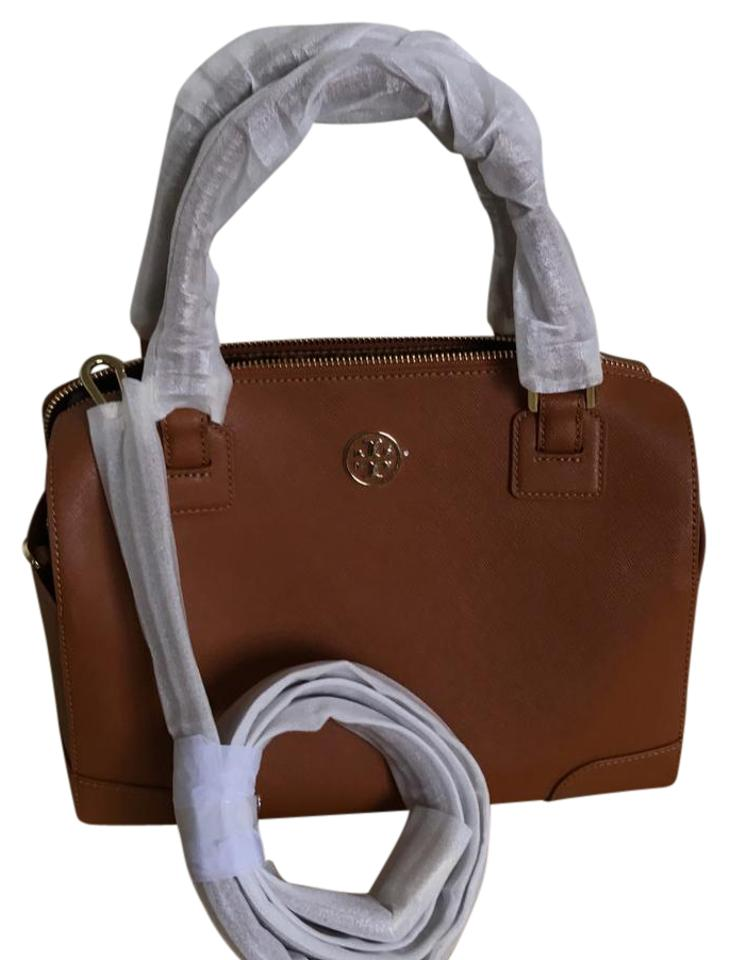 48a7d9f8dd47 Tory Burch Robinson 33649 Brown Saffiano Leather Satchel - Tradesy
