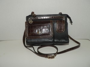 Brighton Compartments Leather Slots Cross Body Bag