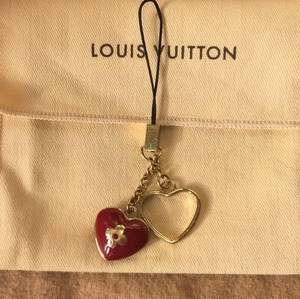 Louis Vuitton Red Heart Charm