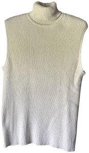 Preswick & Moore Sleeveless Turtleneck New With Tags Dressy Metallic Sweater