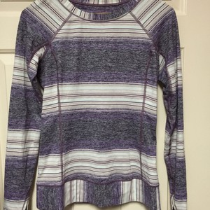 Lululemon Lululemon Stripe Long Sleeve - like new SZ6 super cute color pattern and hidden lower back pocket