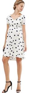 ASOS Maternity Blurred Spot Skater Dress - Navy spot