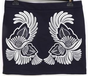 Stella McCartney Mini Skirt Navy, White