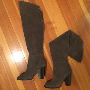 Steve Madden Over The Knee Nwt Otk Nwt Taupe Suede Boots