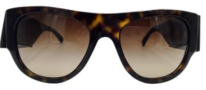Chanel Chanel Tortoise Leather Bow Sunglasses 5276-Q 55
