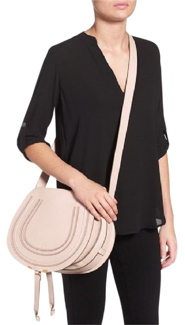 Item - Marcie Medium Off-white (Abstract) Leather Cross Body Bag