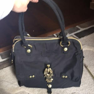George Gina & Lucy Satchel in Black with gold hardware