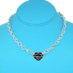 Tiffany & Co. BEAUTIFUL!!! Tiffany & Co. Return to Tiffany Heart Tag Necklace Sterling Silver 15