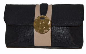 Draper James navy / beige /gold Clutch