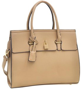 Other Classic Large Handbags The Treasured Hippie Vintage Satchel in Nude