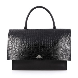 Givenchy Shark Leather Satchel in Black