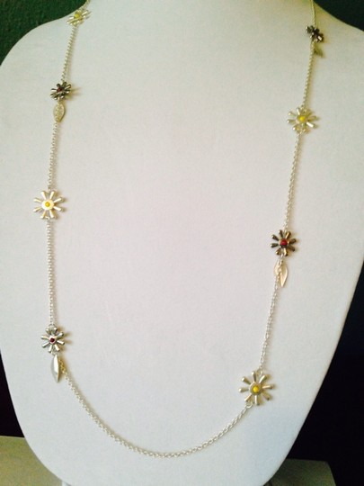 Other 2Piece Set, Yellow & Burgundy Daisy Necklace & Earring Set