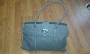 Rosetti Vegan Roomy Satchel in gray