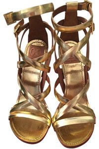 Tory Burch Strappy Formal Metallic gold Sandals