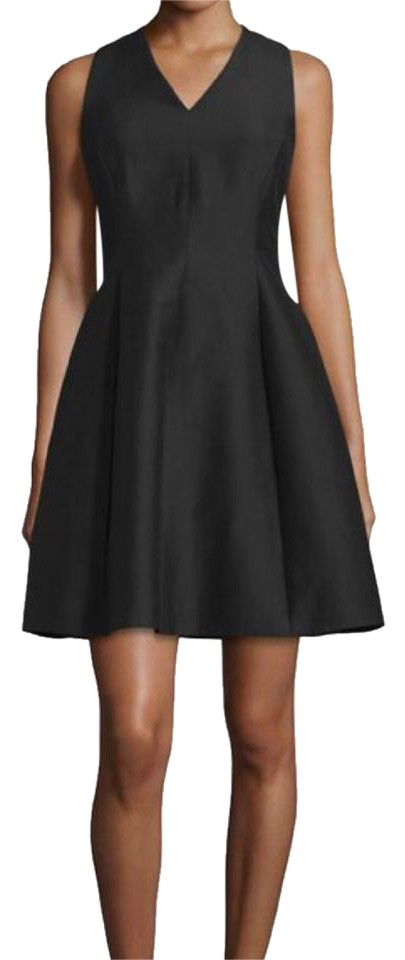 db4bf0dc532 Halston Black Fit and Flare Mid-length Cocktail Dress Size 4 (S ...
