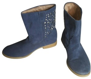 Qupid Studded Blue Boots