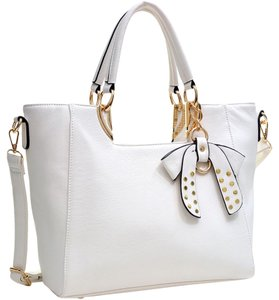 Other Classic Large Handbags The Treasured Hippie Vintage Satchel in White