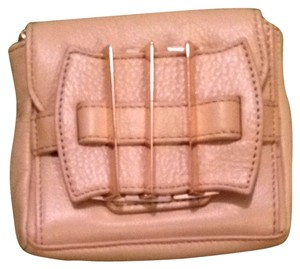 Kelsi Dagger Leather Removeable Strap Tan Clutch