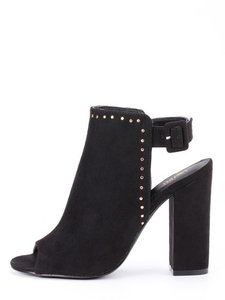 Romwe Studded Embellished Sparkle Luxury Valentino Black Boots