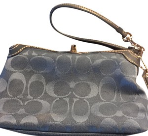 Coach Wristlet in denim blue