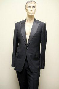 Gucci Gucci Mens Wool Tuxedo Suits Jacket Trousers Eu 58r Us 48r
