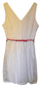 Sequin Hearts short dress White Church Summer V-neck Sleeveless on Tradesy