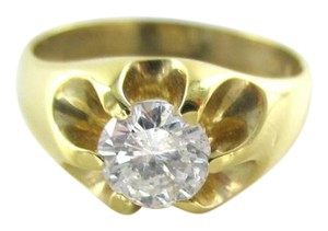 Other 14KT YELLOW GOLD RING 1 DIAMONDS 1.0 CARAT SOLITAIRE 5.5 GRAMS SZ 9 FI