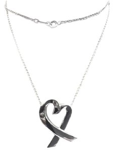 Tiffany & Co. VINTAGE!! Tiffany & Co. Paloma Picasso Loving Heart Extra Large Necklace Sterling Silver 24