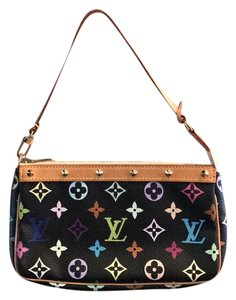 Louis Vuitton black multi colored monogram Clutch