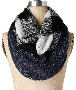 Anthropologie NWT Patched Plaid Infinity Scarf