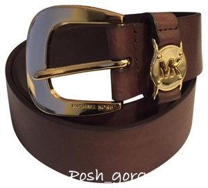 Michael Kors Large Buckle Brown Belt