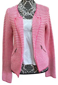 Boden Pink and white Blazer