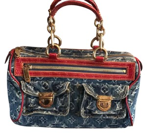 Louis Vuitton Tote in denim and red