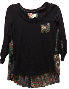 Anthropologie Tunic Top Navy