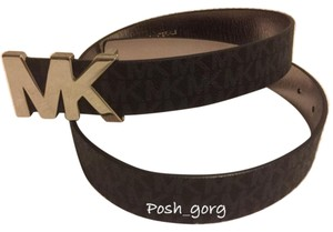 Michael Kors Michael Kors Signature Belt With Mk Plaque Black Size:S