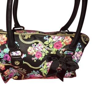 Betsey Johnson Johnson Betsey Handbag Bright Satchel in Black