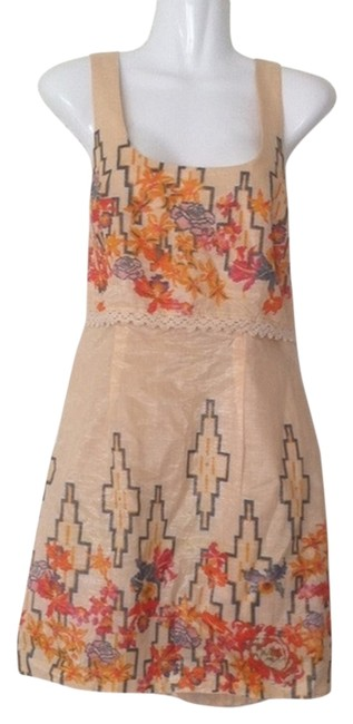 Free People short dress Multi Urban Outfitters Tunic Tank Top Shantung Cotton on Tradesy