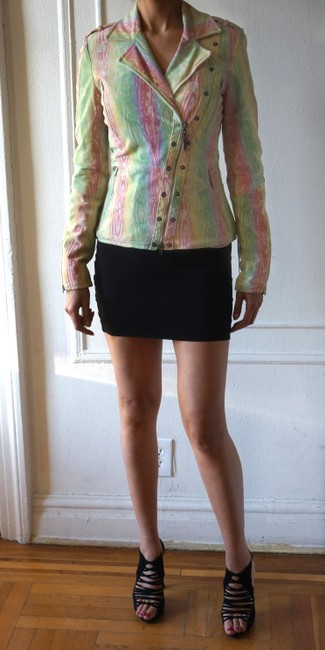 CoSTUME NATIONAL Multicolors Leather Jacket