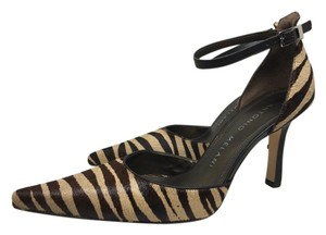 Antonio Melani Fur& Print. Dark brown & tan animal print Pumps